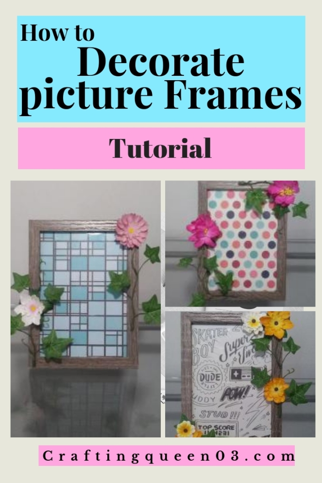 how to decorate picture frames
