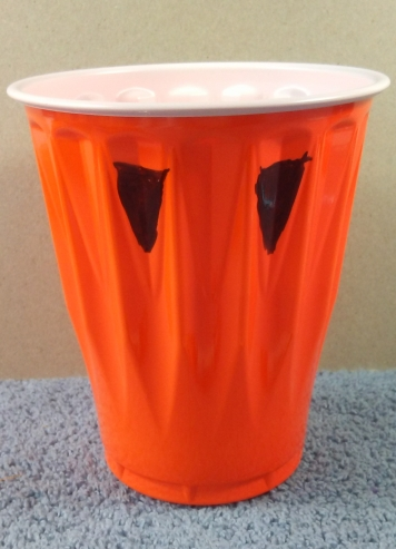 dollar tree solo cup pumpkin