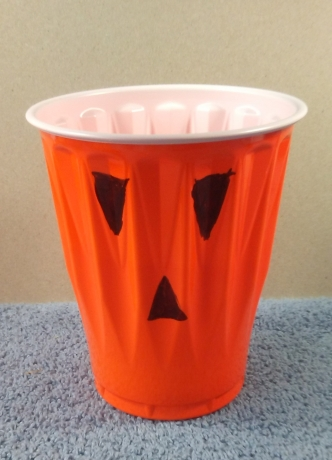 orange solo cup pumpkin