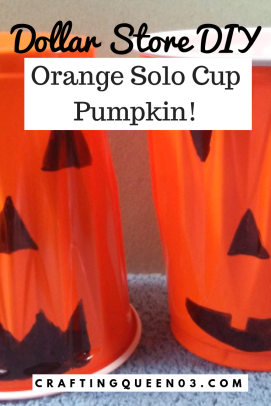 dollar store orange Diy Pumpkin