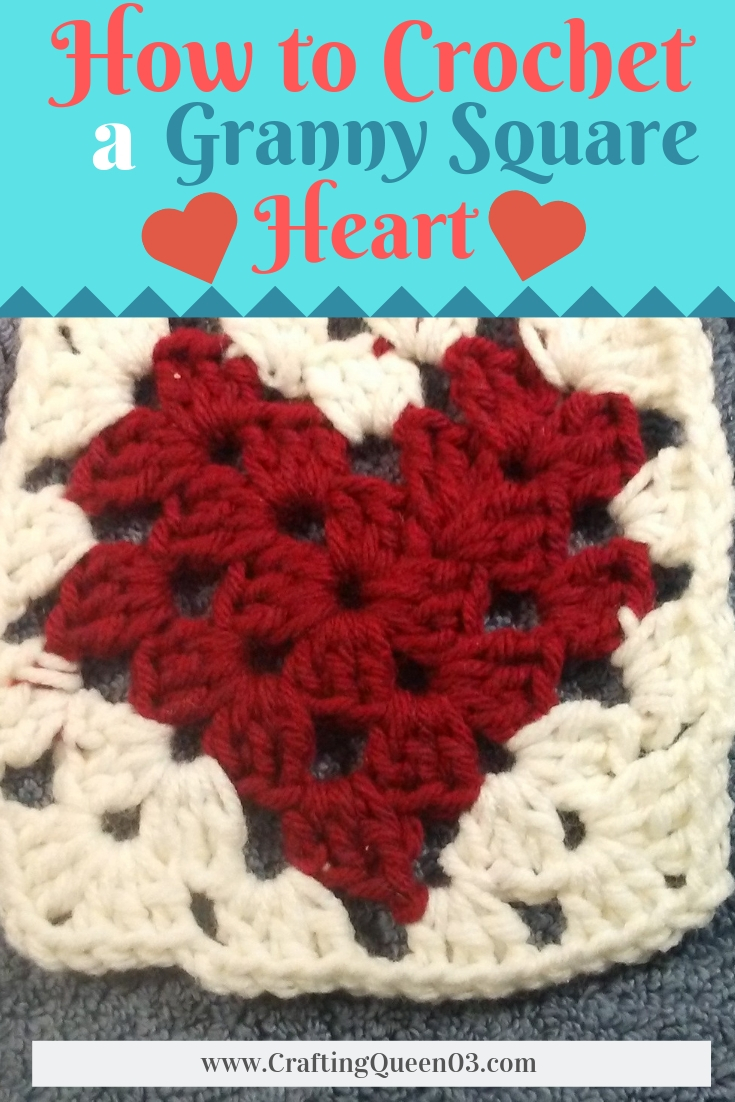 How to Crochet a Granny Square Heart
